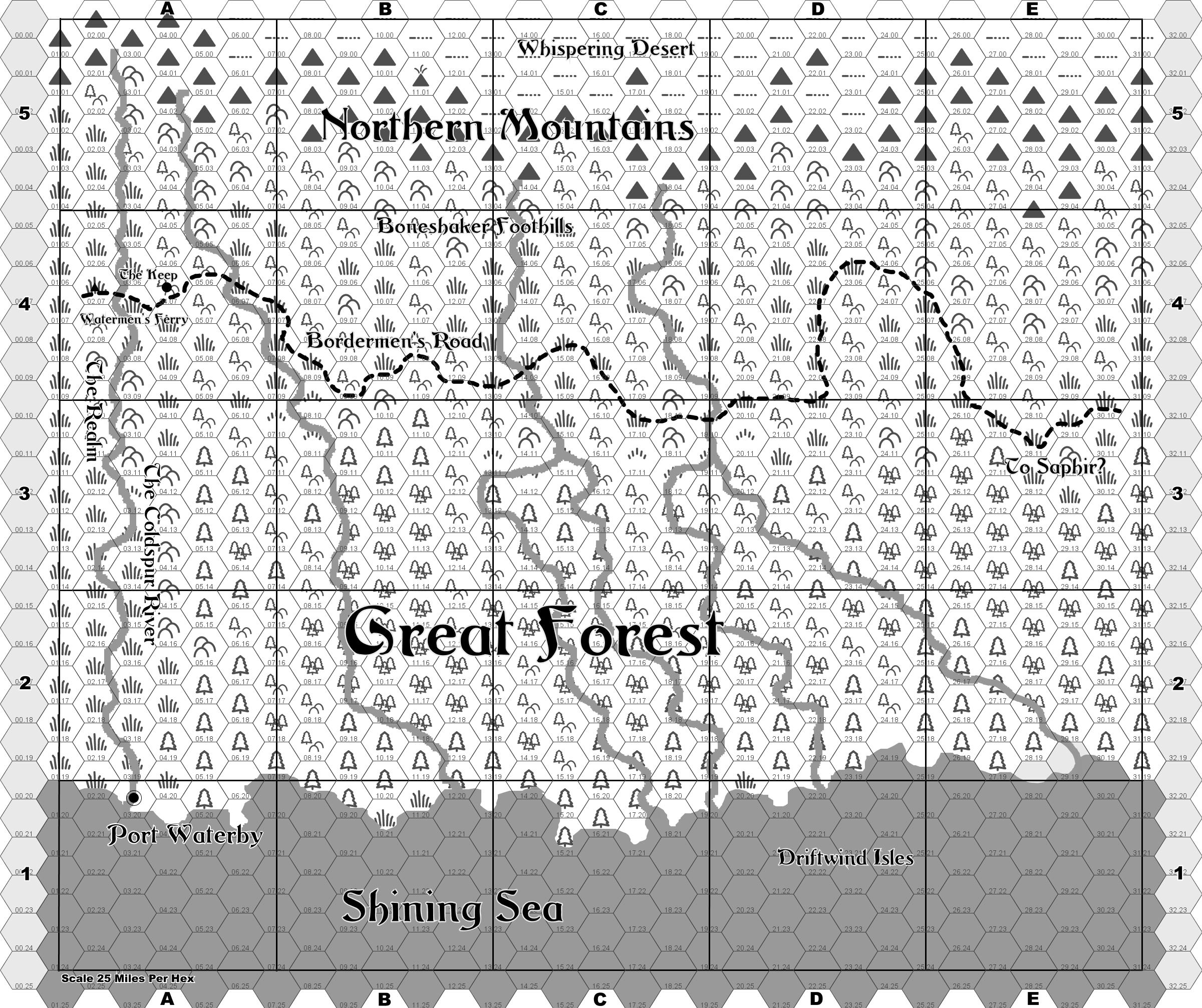 Borderlands_25x25_25_mi_per_hex_monochrome_Atlas_Grid_Full – Breeyark!